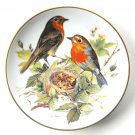 Red Robin WWF World Wildlife Fund Tirschenreuth porcelain plate 1986