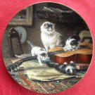 String Quartet WS George The Victorian Cat Porcelain Plate 1991