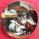 Mischief with the Hatbox WS George The Victorian Cat porcelain plate 1990