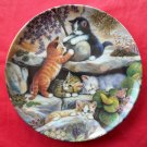 Kitten Expeditions In the Rock Garden Kahla porcelain plate 1996