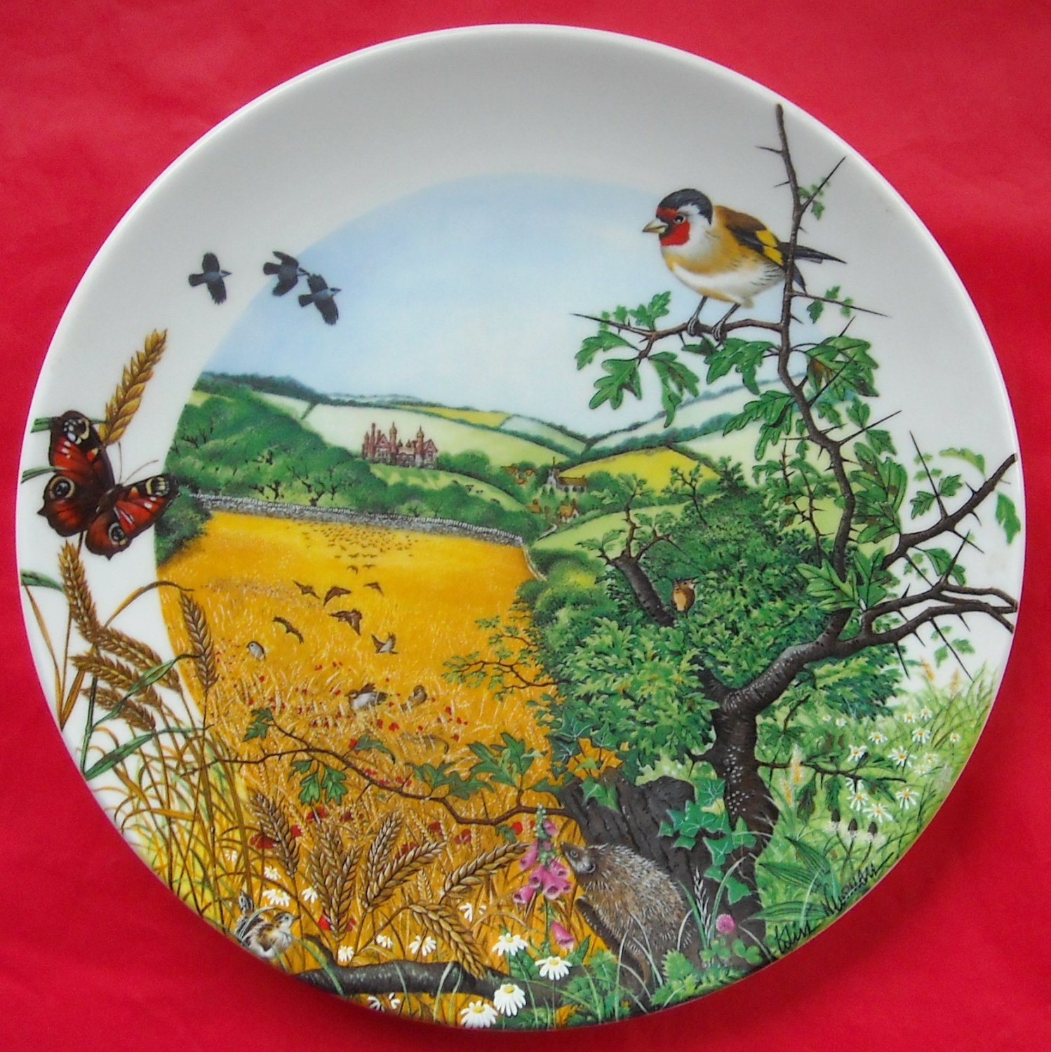 Colin Newmans Country Panorama The Village in the valley 1987 Wedgwood wall plate