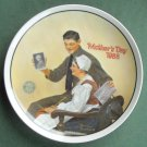 Norman Rockwell Vintage Mothers Day 1988 Edwin M Knowles wall plate