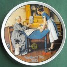 Norman Rockwell Vintage Mothers Day 1983 Edwin M Knowles wall plate