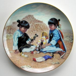 Playing With Tradition Proud Indian Families Kenneth Freeman Hamilton Collection plate 1992