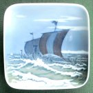 Royal Copenhagen Viking Boats Square Dish Plate 1960
