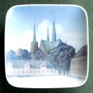 Roskilde Cathedral Royal Copenhagen small square dish 1961