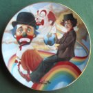 Chuck Oberstein Rainbow's End Hackett Fairmont plate 1981