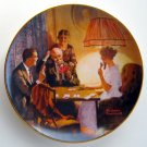 Birthday Wish Norman Rockwell 1984 plate Edwin M Knowles Fine China