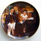 Close Harmony Norman Rockwell 1984 plate Edwin M Knowles Fine China