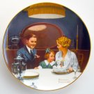 Room That Light Made Norman Rockwell 1984 plate Edwin M Knowles Fine China