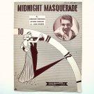 Midnight Masquerade By Bernard Bierman 1946 Sheet Music