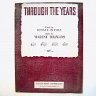 Through The Years By Vincent Youmans 1931 Sheet Music