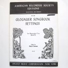 Glogauer Songbook Settings American Recorder Society Edition Sheet Music Notebook