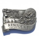 Kentucky Bluegrass State Great Escape Vintage Pewter Belt Buckle