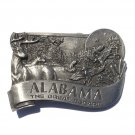 Alabama State Great Escape 3D Vintage Bergamot Pewter Belt Buckle