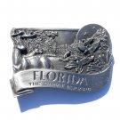 Florida State 3D Vintage Bergamot Pewter Belt Buckle
