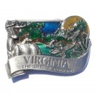 Old Dominion Virginia State 3D Color Bergamot Pewter Belt Buckle
