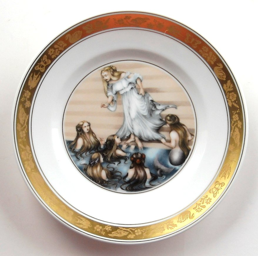 H C Andersen Little Mermaid Royal Copenhagen Plate
