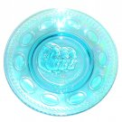 Wheaton Apollo 14 Vintage 1971 Blue Iridescent Carnival Glass Plate