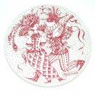 February Maskerade Red Bjorn Wiinblad Denmark Plate
