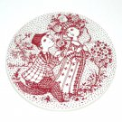 June Roser Red Bjorn Wiinblad Denmark Plate