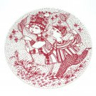 August Bye Bye Red Bjorn Wiinblad Denmark Plate