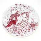 Bjorn Wiinblad Denmark October Paradis Red Nymolle Plate