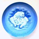 Hutschenreuther Gunther Granget Polar Bears Long Winter's Night 1977 Plate