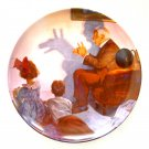 Norman Rockwell 1987 Heritage Collection The Shadow Artist Knowles Wall Plate