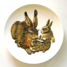 Rabbit And Bunnies Goebel Mothers Series 3D wall plate 1975