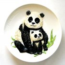 Goebel Mothers Series Panda And Cup 3D wall plate 1977