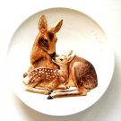 Goebel Mothers Series Doe And Fawn 3D wall plate 1978