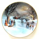 Holiday Skaters Scenes Of Christmas Past WS George Porcelain Plate 1987