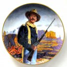 John Wayne Hero Of The West Robert Tanenbaum Franklin Mint fine porcelain plate