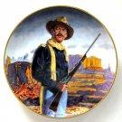 John Wayne Hero Of The West Robert Tanenbaum Franklin Mint fine porcelain plate