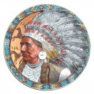 Chief Joseph Native American Legends Bradford 3D Plate 1994