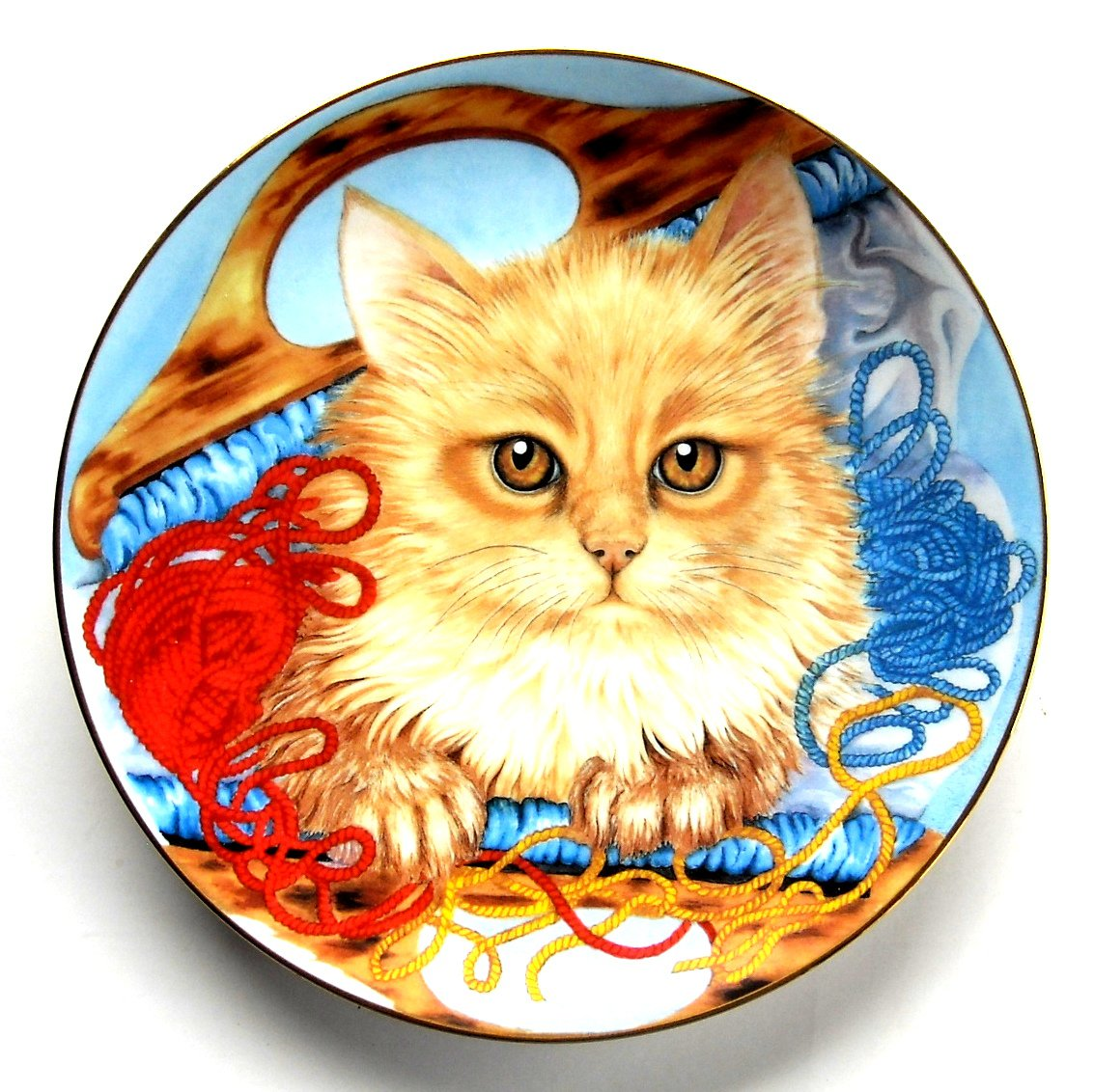 Kitten Yarn Kitten Appeal Sue Ranford Hamilton Collection Cat Plate 1991