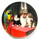 Forbidden Fruit W S George Victorian Cat Capers Porcelain Plate 1993