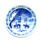 Royal Copenhagen 1991 The Eremitage Castle Annual Christmas Small Plate