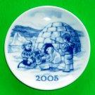 Royal Copenhagen Millennium 2005 Small Plate Ornament
