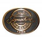 1996 John Deere Signature Dealer Brass Belt Buckle