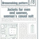 Jackets Casual Suit Phoebus Dressmaking Vintage 1975 Sheet Sewing Pattern 78