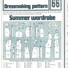 Summer Wardrobe Dressmaking Phoebus Vintage 1975 Sheet Sewing Pattern 66