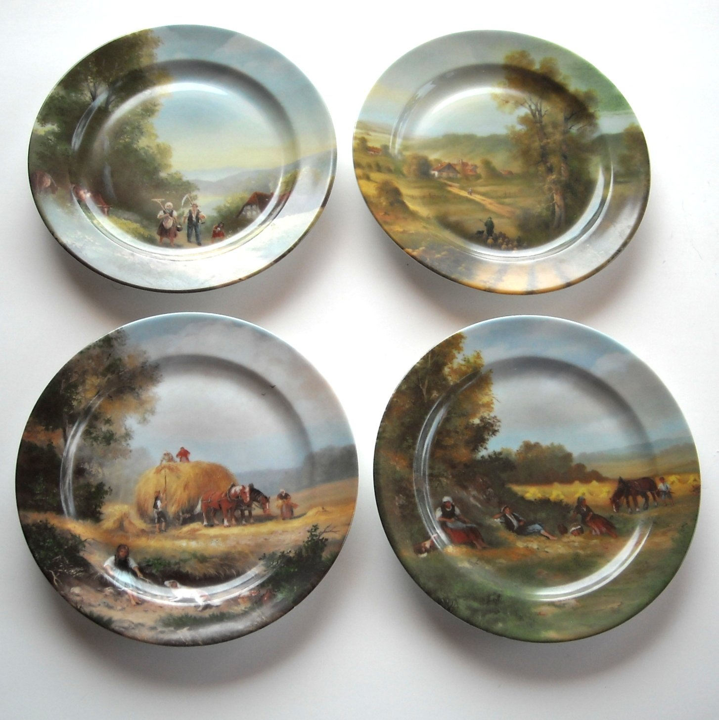 Limoges Romance French Countryside France Porcelain Plates Lot