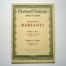 Hortus Musicus Francesco Barsanti Sheet Music Booklet