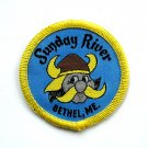 Sunday River Bethel Maine Vintage Round Embroidered Souvenir Patch