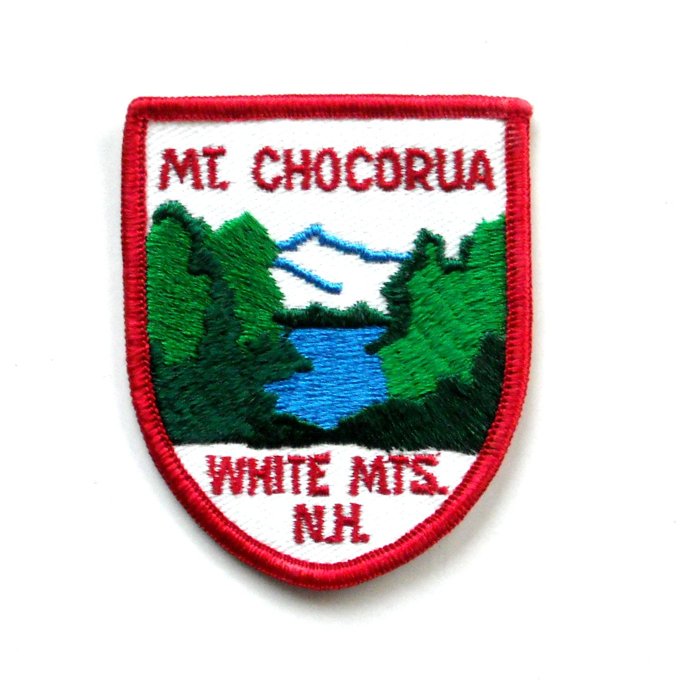 Mt Chocorua White Mountains Vintage Embroidered Souvenir Patch