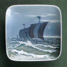 Viking Boats Royal Copenhagen Square Dish Plate 1960