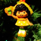 Custom Vintage Strawberry Shortcake Orange Blossom Ornament