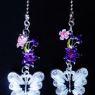 Butterfly Flower Nature Ceiling Fan Light Pull Chain Set M-77